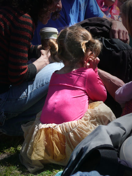 Little girl at an Easter party