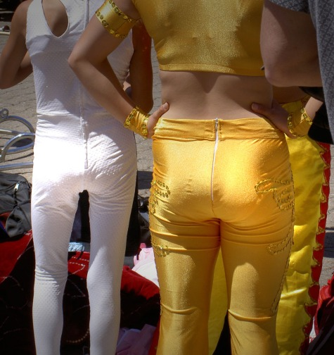 gold and white butts
