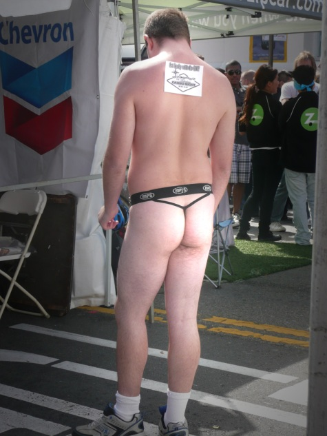 Bare butt at Castro Street Fair