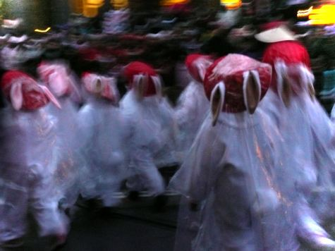 Little children dressed as rabbits in the San Francisco Chinese New Year's Parade